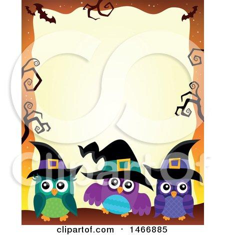 450x470 Royalty Free (Rf) Halloween Border Clipart, Illustrations, Vector