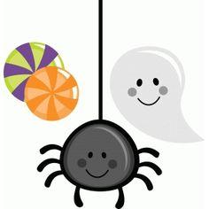 236x236 Cute Hanging Halloween Spider Clip Art