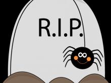 220x165 Halloween Tombstones Clipart