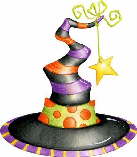 445x512 Spider Clipart Witch Hat