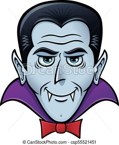 387x470 Halloween Vampire Face. Cartoon Of A Vampire For Halloween