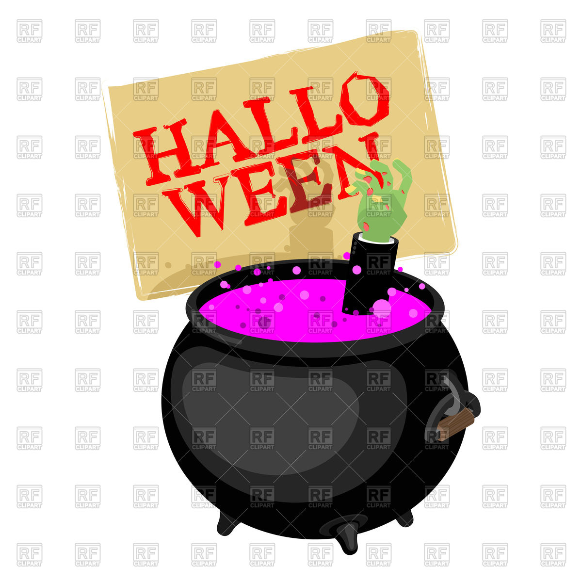 1200x1200 Halloween. Pot With Magical Potion And Hand Of Zombie. Witch