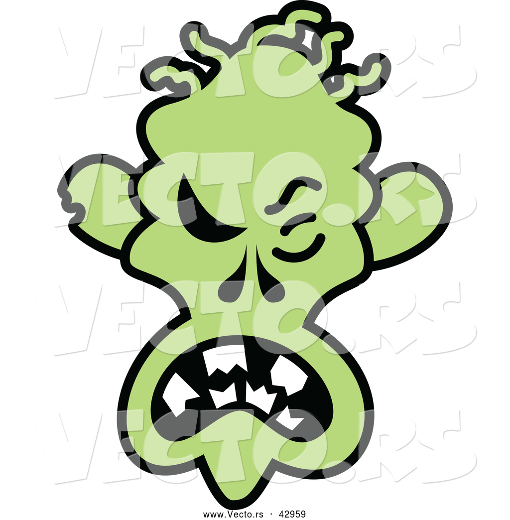 1024x1044 Vector Of A Mad Cartoon Halloween Zombie By Zooco