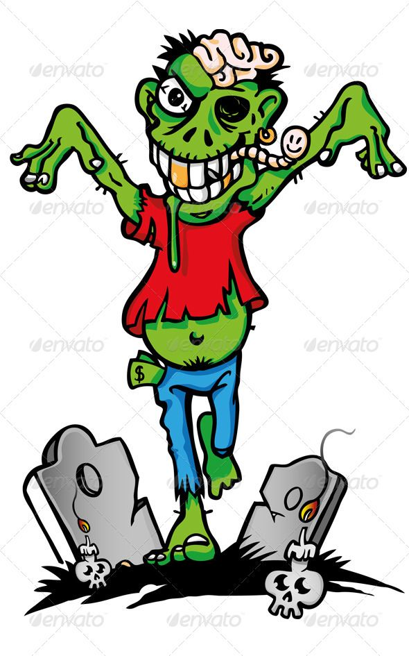 590x945 Zombie Cartoon Zombie Cartoon, Cartoon And Caricatures