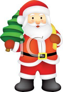 241x350 Santa Claus Christmas Graphic