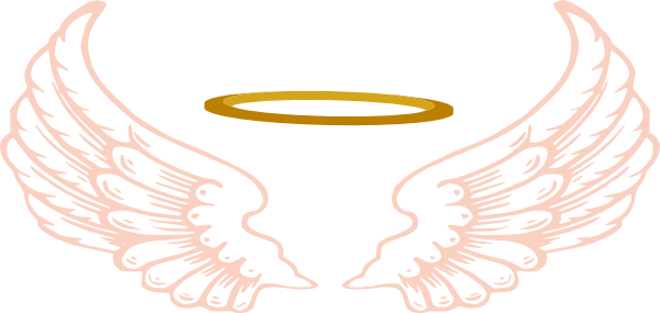 600x285 Angel Halo With Wings Clip Art