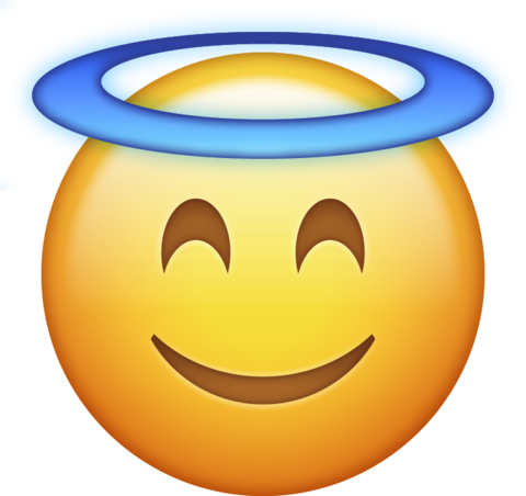 480x452 Angel Halo Emoji Png Icon