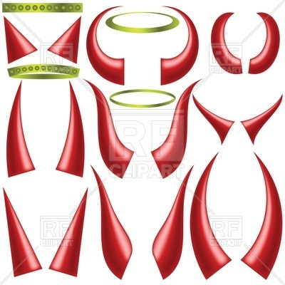 400x400 Angels Halo And Devils Horns Royalty Free Vector Clip Art Image