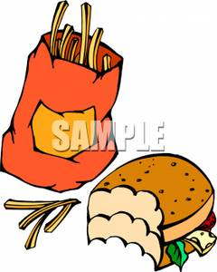 Hamburger And Fries Clipart