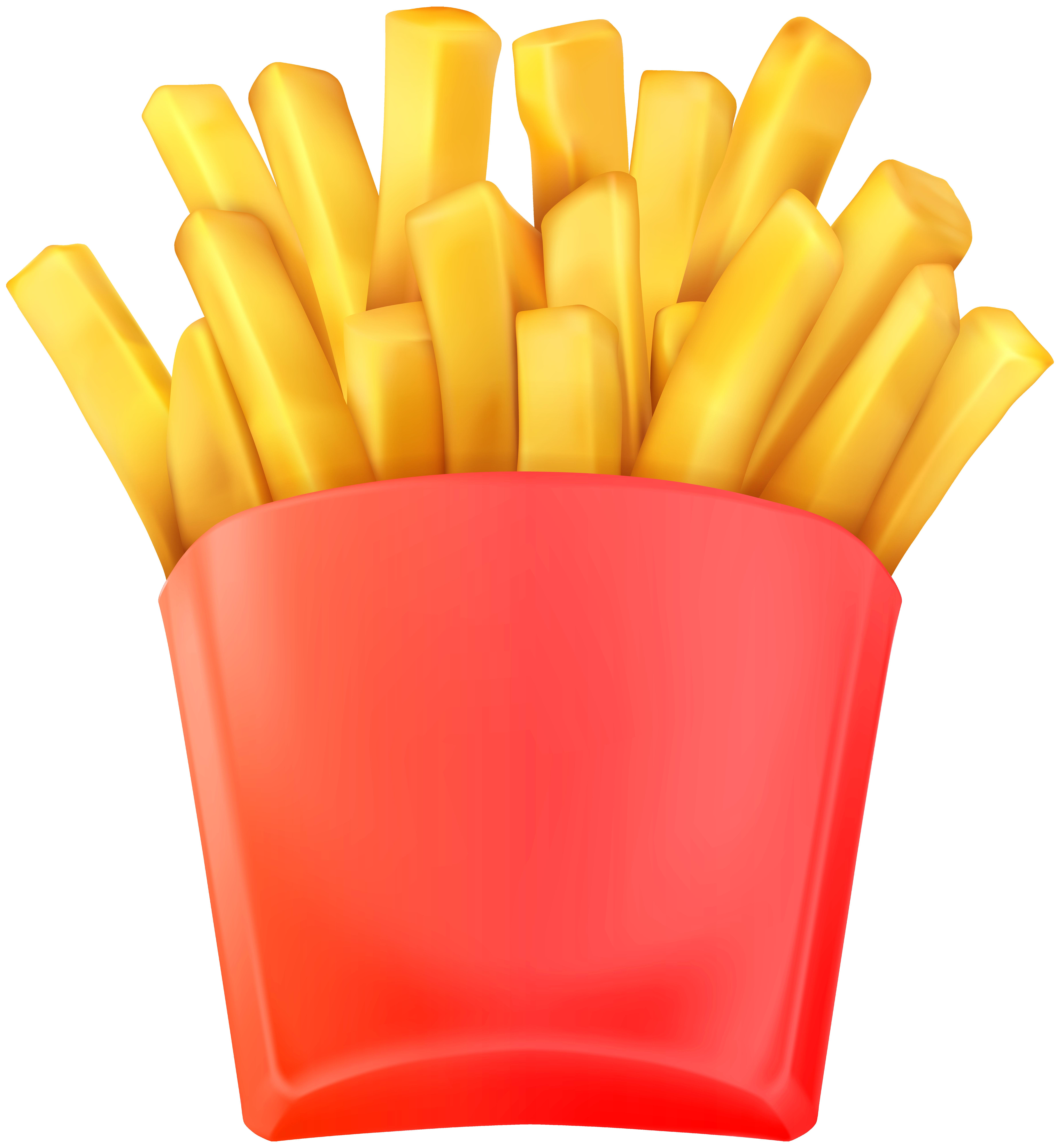 7389x8000 French Fries Hamburger Fast Food Junk Clip Art Cliparts Fine
