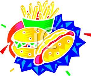 300x252 A Hamburger, A Hot Dog, And Fries