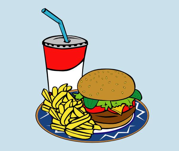 600x507 Fries Burger Soda Fast Food Clip Art Free Vector 4vector