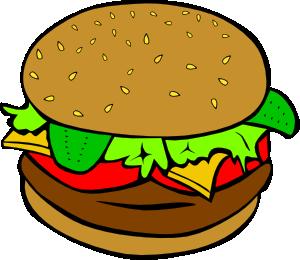 300x260 Hamburger Clip Art