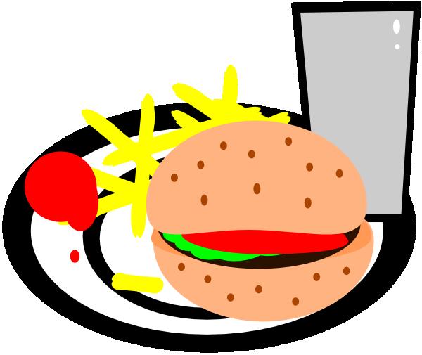 600x505 Burger And Fries Clip Art