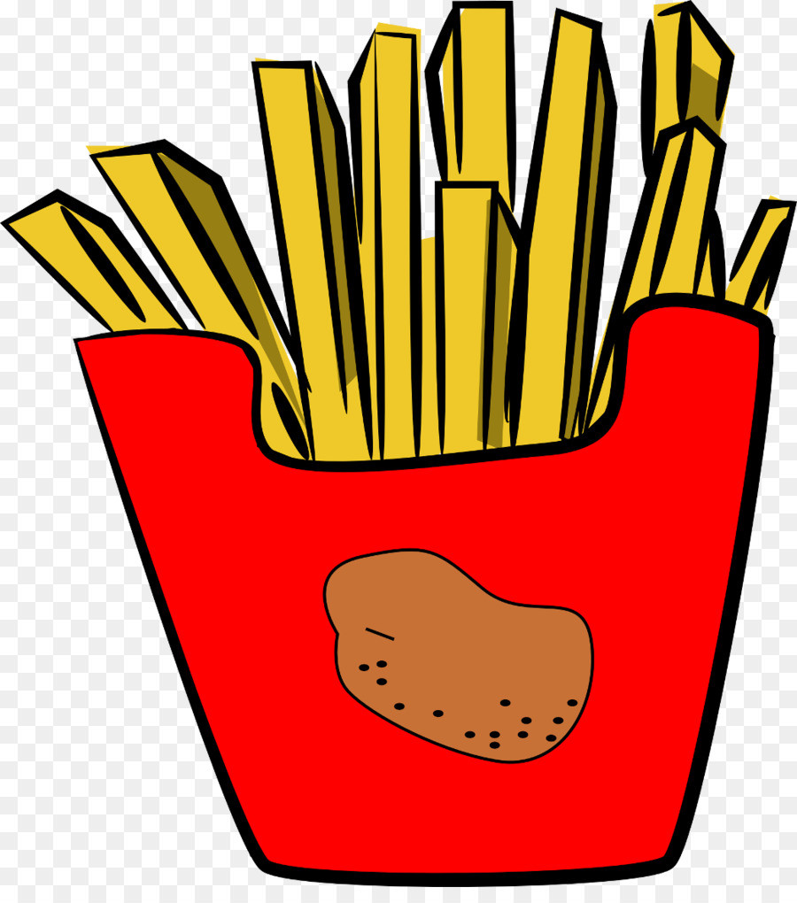 900x1020 Clipart French Fries