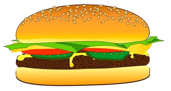 600x320 Hamburger Clipart Pizza Burger