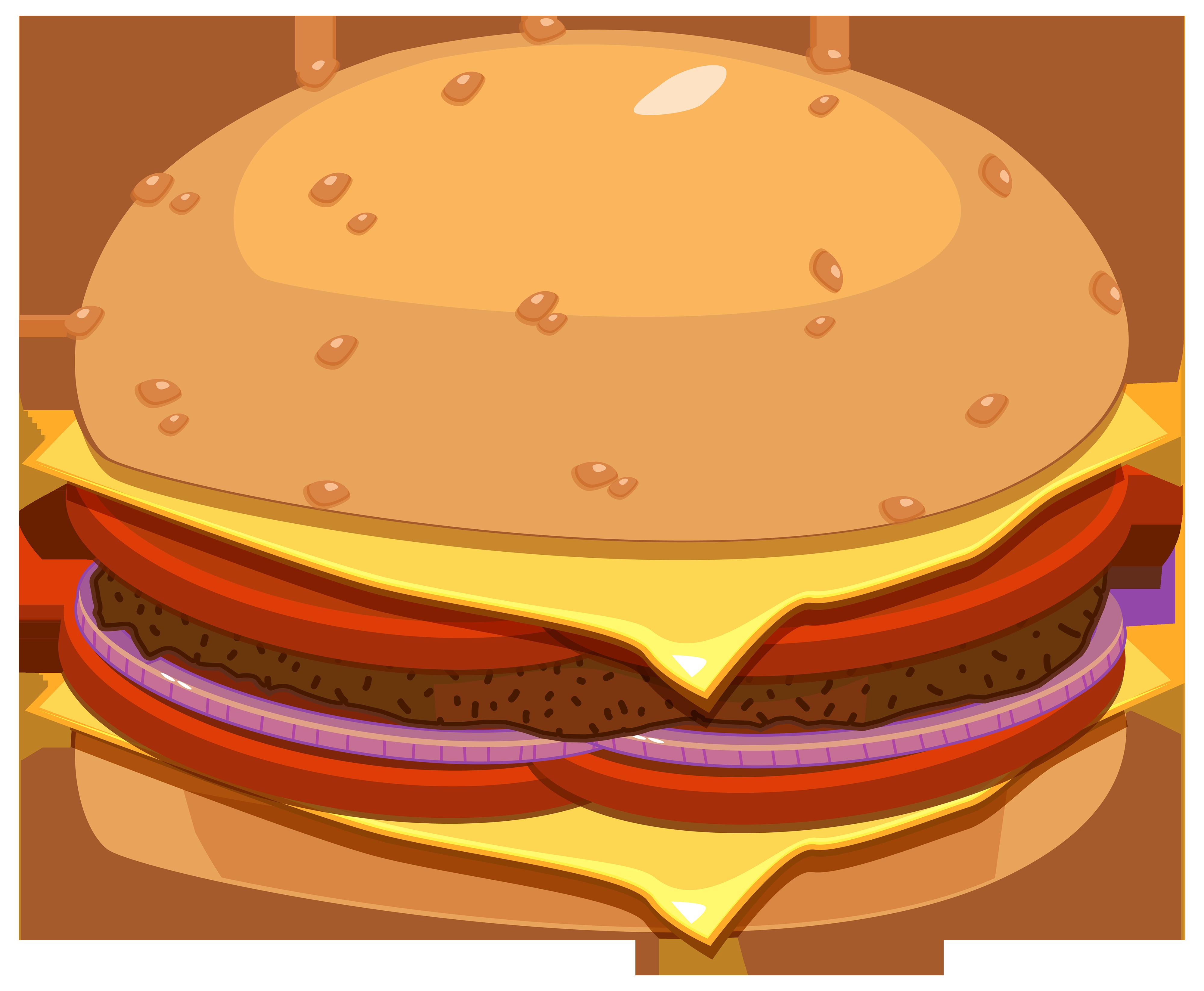 4000x3293 Hamburger Png Clipart