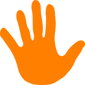 297x298 Hand Orange Left Clip Art