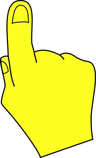 366x599 Hand Pointing Clipart