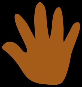 282x299 Brown Hand Print Clip Art