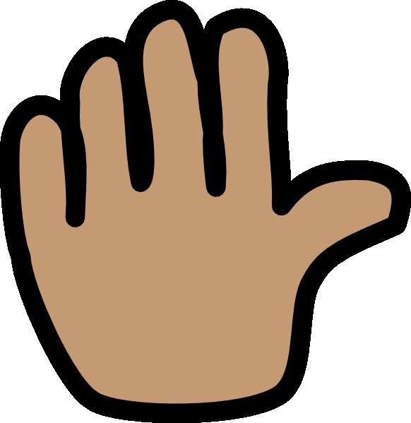 582x599 Clip Art Hand Waving Bye Clipart