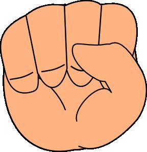 288x297 Closed Hand Clip Art