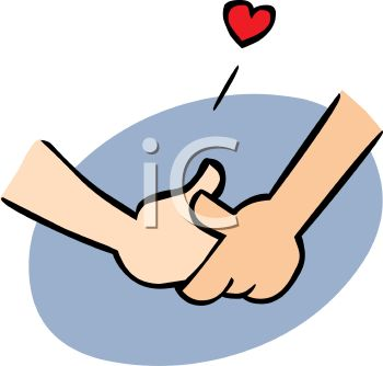 350x334 Couple In Love Holding Hands Cartoon Clip Art