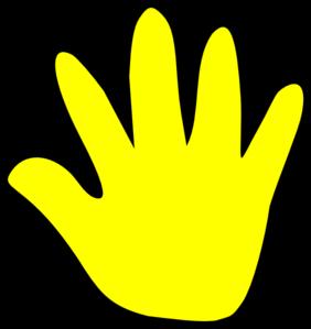 282x299 Child Handprint Yellow Clip Art
