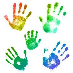 236x236 Handprints Cut Outs Clip Art, Handprint Art And Classroom Management