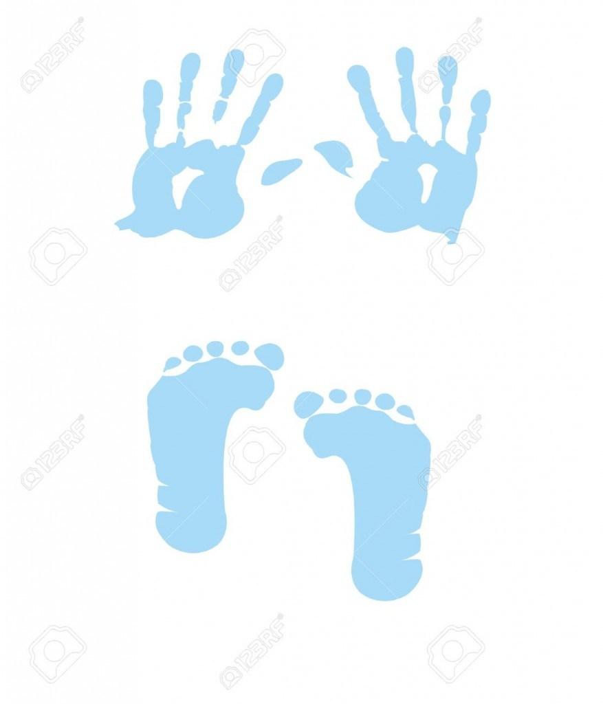877x1024 Baby Handprint Clip Art