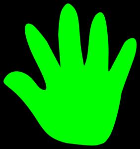282x299 Child Handprint Green Clip Art