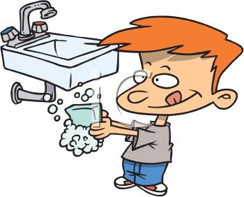 350x282 Hand Washing Clipart