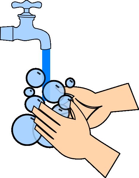 468x598 Washing Hands Clip Art