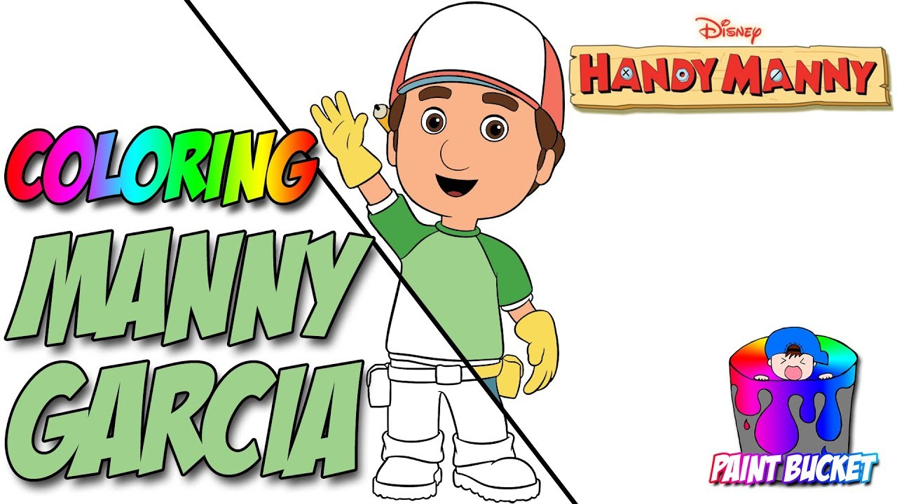 1280x720 How To Color Handy Manny Coloring Pages