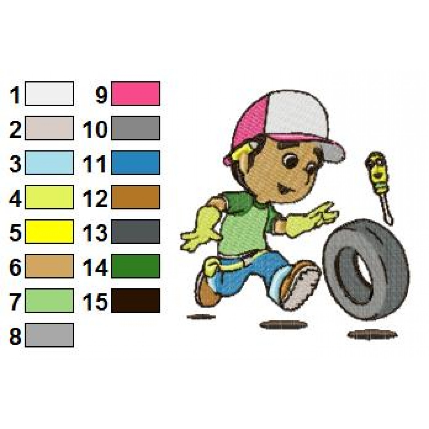 1500x1500 Handy Manny 05 Embroidery Design
