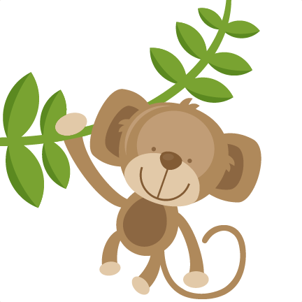 432x432 Hanging Monkey Svg Cut Files For Scrapbooking Silhouette Cut Files