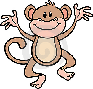 300x289 Monkey Outline Clipart