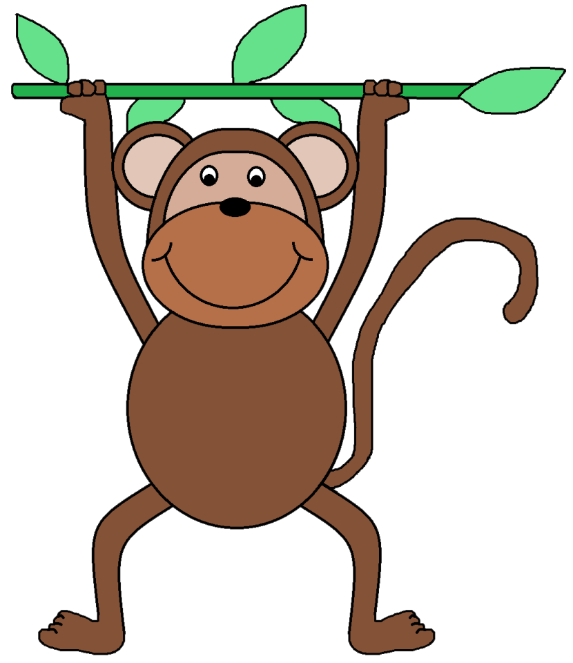 830x960 Monkey Black And White Monkey Images Clip Art