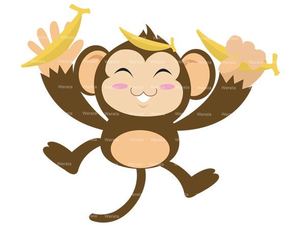 570x453 Animated Monkey Clipart Collection