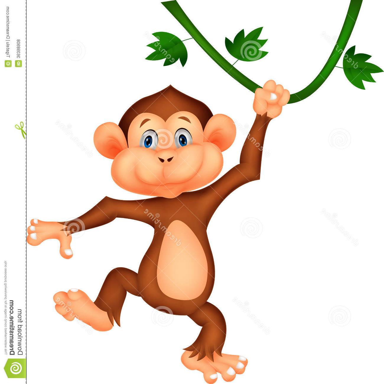 1300x1300 Cute Hanging Monkey Clipart