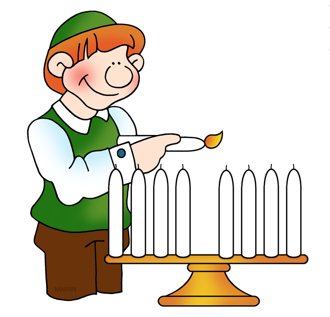 675x648 Hanukkah Clip Art By Phillip Martin, Lighting The Menorah