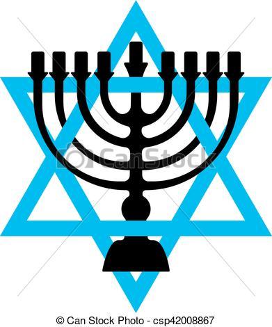 391x470 Menorah Symbol Of Judaism. Illustration Isolated On White Clip