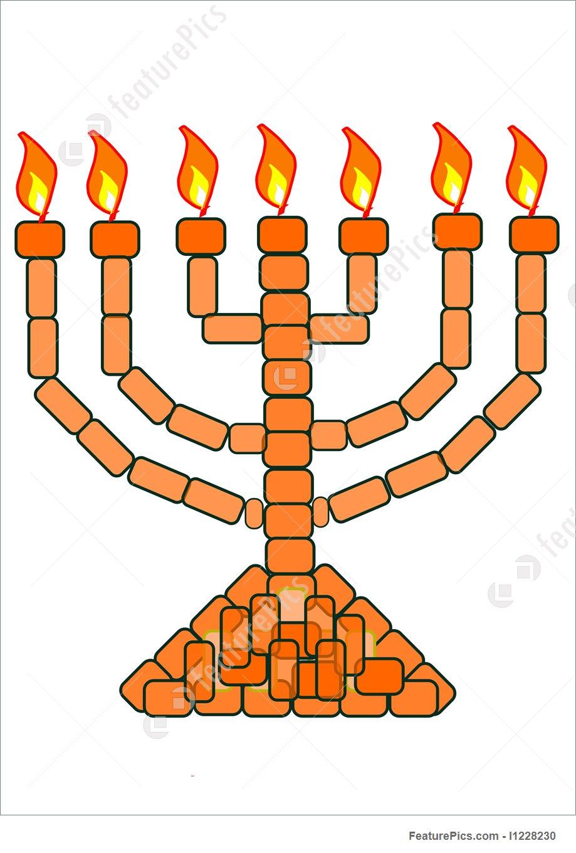 919x1360 Religious Symbols Orange Gold Menorah