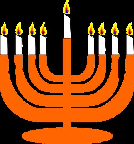 464x500 Vector Image Of Menorah With Shamash Public Domain Vectors