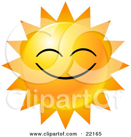 450x470 Clipart Illustration Of A Yellow Emoticon Face Displayed As