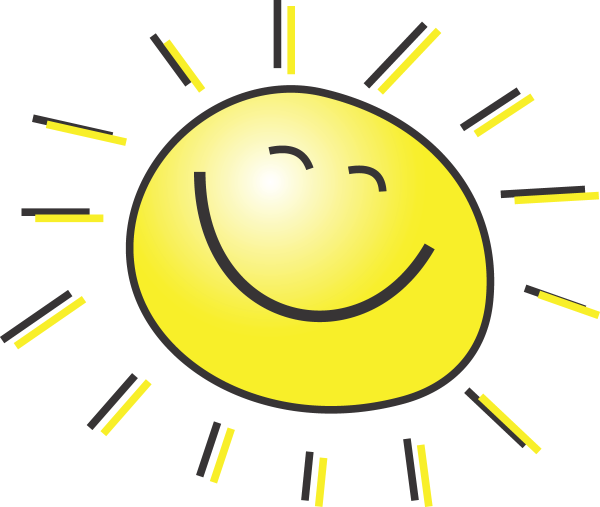 1200x1014 Free Summer Clipart Illustration Of A Happy Smiling Sun