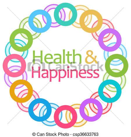 450x470 Health And Happiness Colorful Rings. Health And Happiness Stock