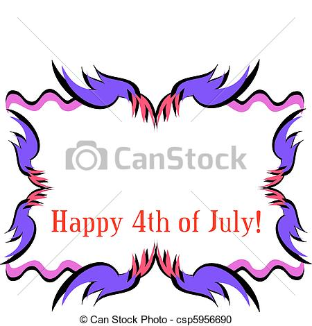 450x470 Frame For A Happy Fourth Of July. Here Is A Colorful Frame