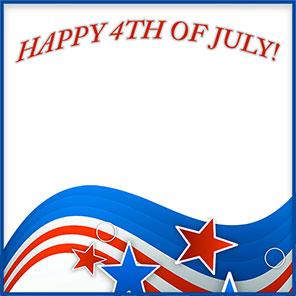 296x296 Happy 4th Of July Borders