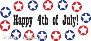 300x136 Happy 4th Of July Clip Art